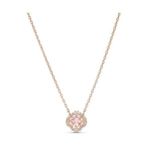 Collar Swarovski Sparkling Dance rosé con cristales rosa