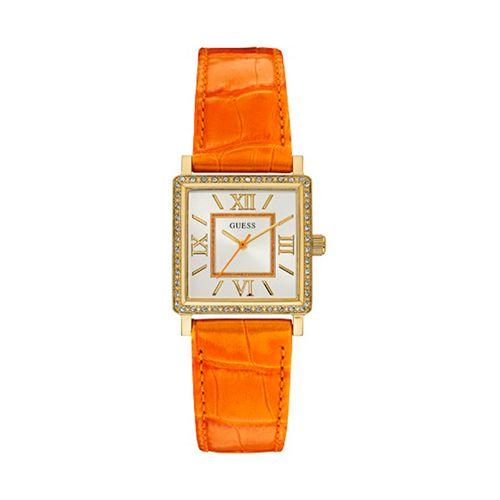 Reloj Guess DR Dress para mujer de cuero naranja W0829L10