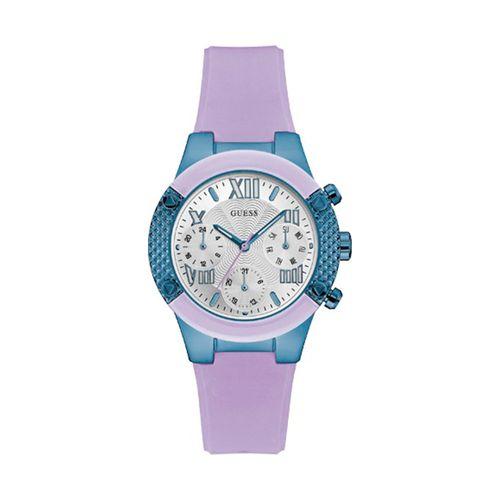 Reloj Guess SP Sport para mujer de silicona lila W0958L2