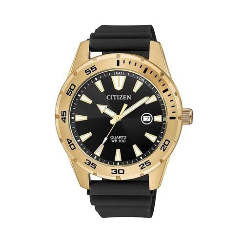 Reloj Citizen para hombre con correa de caucho negro CTBI104301E
