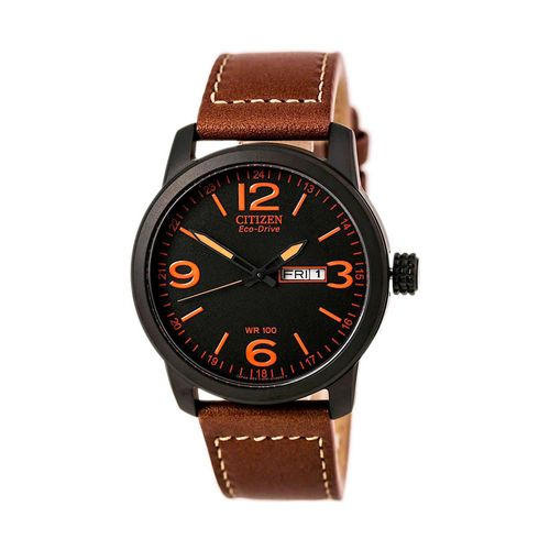 Reloj Citizen para hombre con correa de cuero marrón CTBM847526E