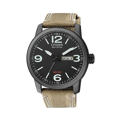 Reloj Citizen para hombre con correa de cueron marrón CTBM847623E