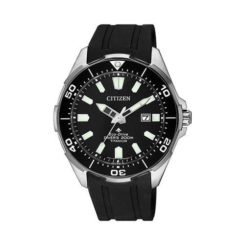 Reloj Citizen para hombre con correa de silicona negro CTBN020013E