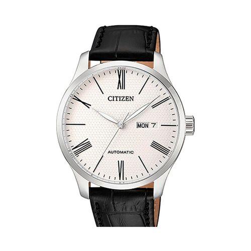 Reloj Citizen automático para hombre con correa de cuero negro CTNH835008A