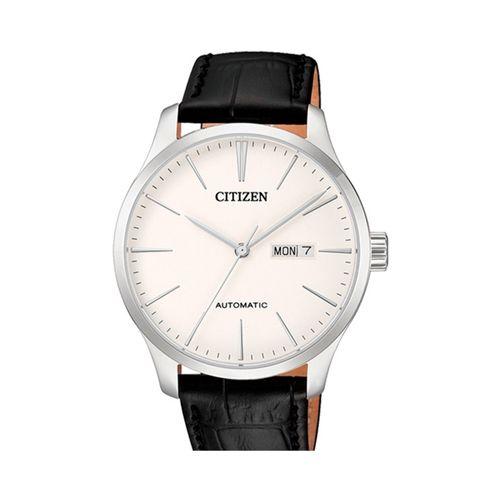 Reloj Citizen automático para hombre con correa de cuero negro CTNH835008B