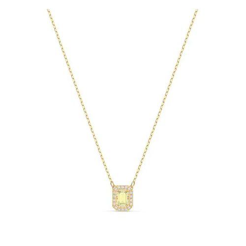 Collar Swarovski Millenia dorado con cristales blancos y amarillo