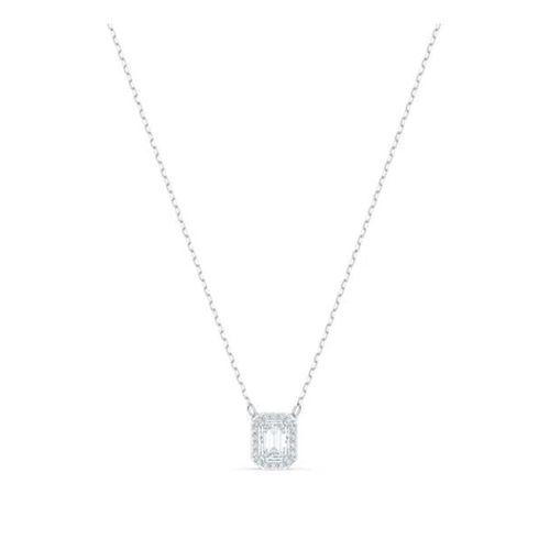 Collar Swarovski Millenia plateado con cristales blancos