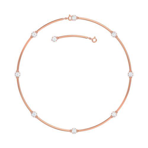 Collar Swarovski Constella rosé con cristales blancos
