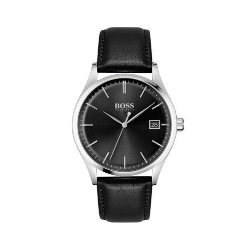 Reloj Boss Commissioner para hombre de cuero negro 1513831
