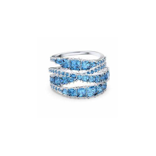 Anillo Swarovski Twist Wrap con cristales en azul