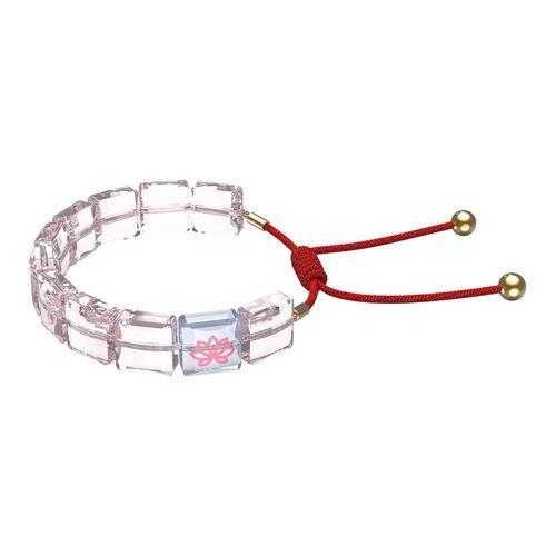 Pulsera Swarovski Letra Loto con cristales rosa