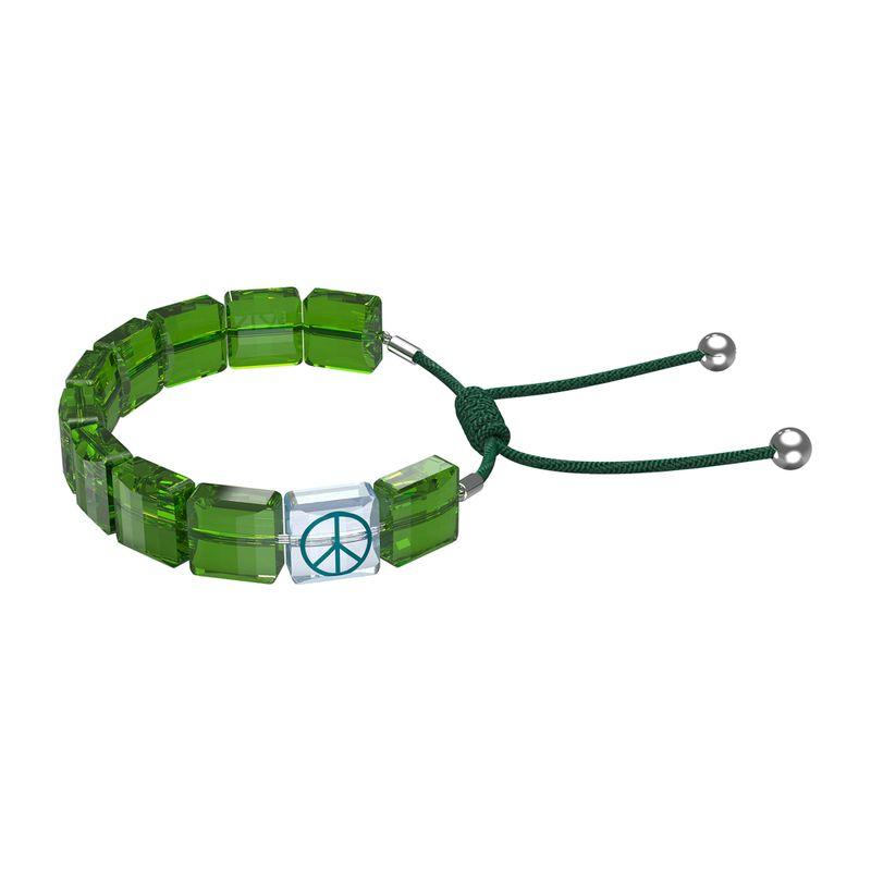 Pulsera-Swarovski-Letra-Peace-verde-5615003_01