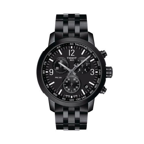 Reloj Tissot PRC 200 Chronograph para hombre de acero negro 1144173305700