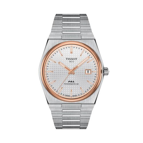 Reloj Tissot PRX Powermatic 80 para hombre de acero plateado 1374072103100