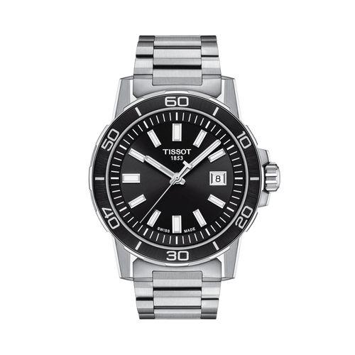 Reloj Tissot Supersport Gent para hombre de acero plateado 1256101105100