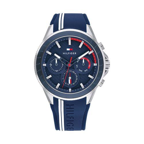 Reloj Tommy Hilfiger Aiden para hombre de silicona azul 1791859