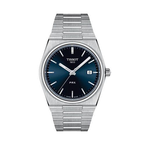 Reloj Tissot PRX para hombre de acero plateado 1374101104100