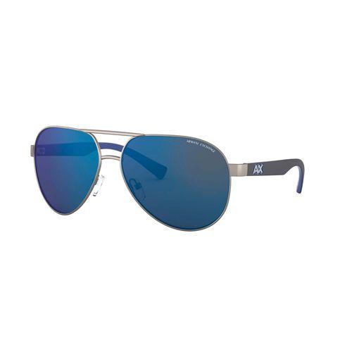 Lentes Armani Exchange de Hombre Matte Gunmetal Mirror Blue