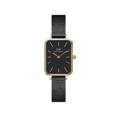 Reloj Daniel Wellington Quadro Pressed Ashfield de acero rosé y negro