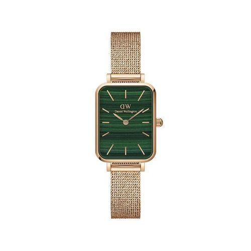 Reloj Daniel Wellington Quadro Pressed Melrose de acero rosé y verde