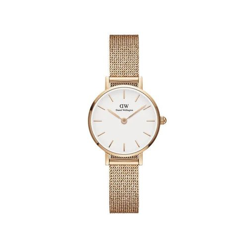 Reloj Daniel Wellington Petite Pressed Melrose de acero rosé y blanco
